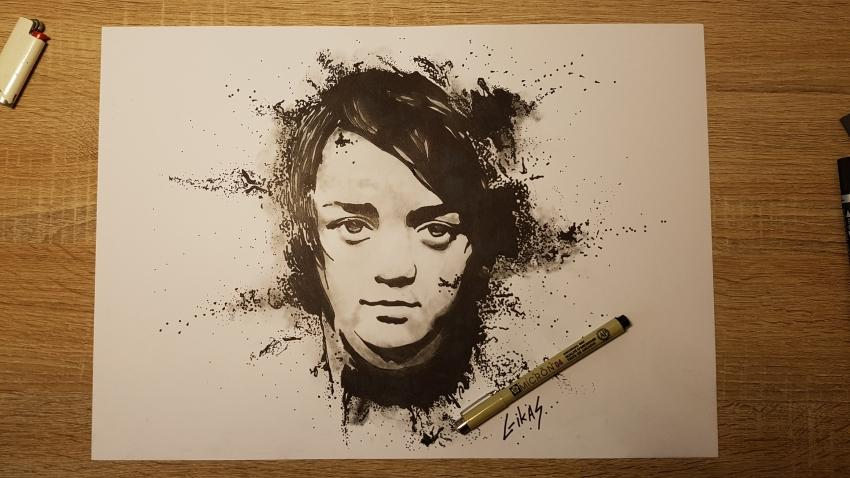 Maisie Williams by GIKAS